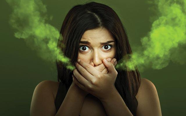 رفع بوی بد دهان ناشی از معده