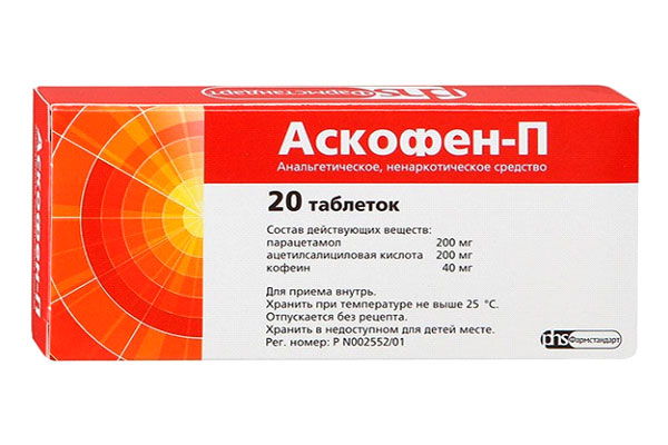 Askofen-P (کافئین، پاراستامول، استیل سالیسیلیک اسید (آسپرین))